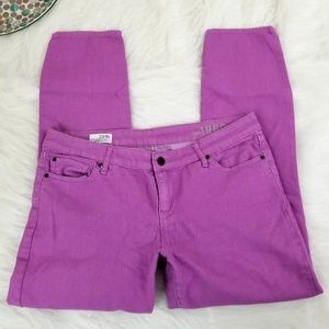 Gap Always Skinny Jeans Low Neon Violet Stretch 12